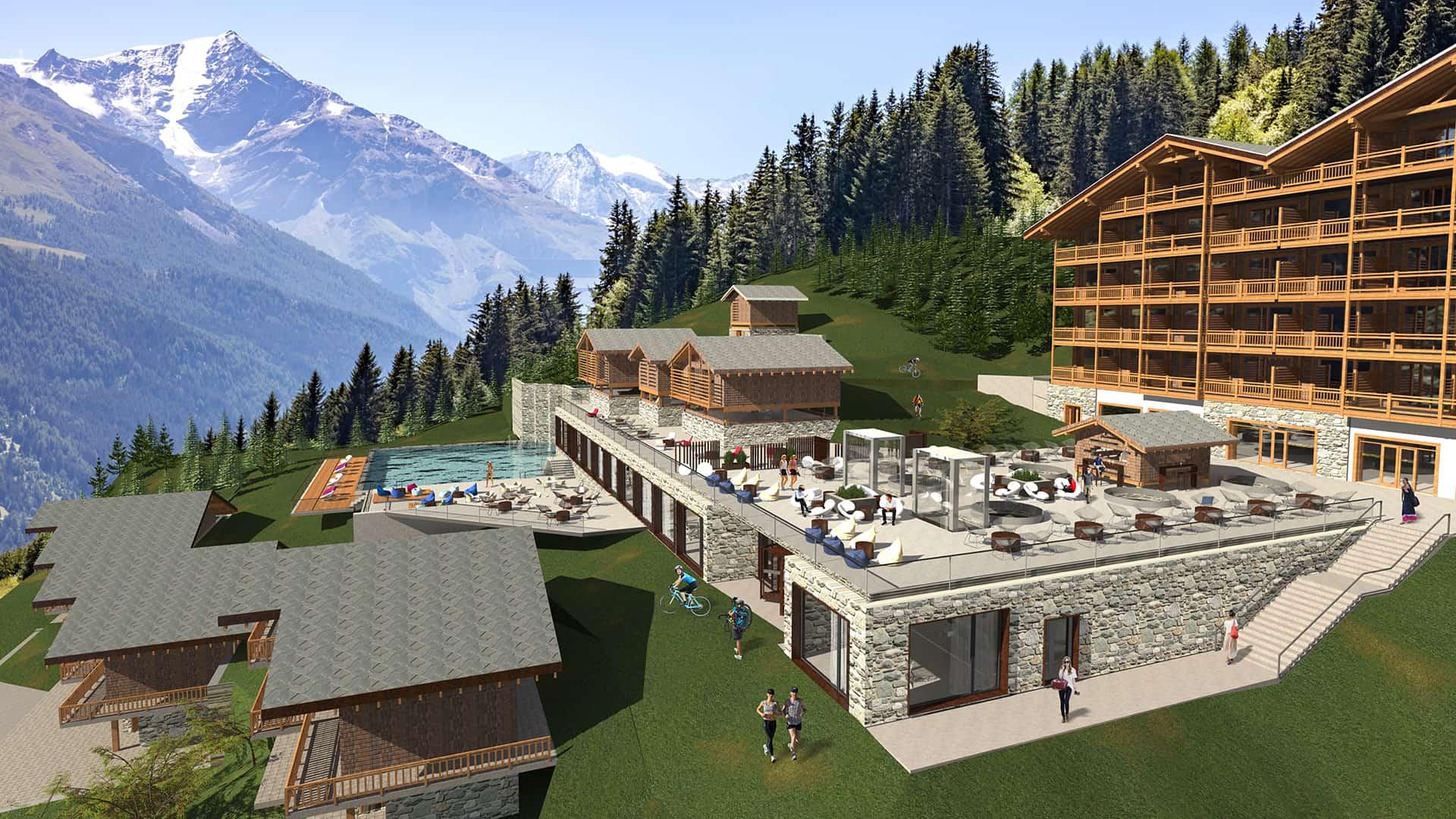 Maquette Bains Thermaux et Spa Dixence Resort | Projet immobilier en Valais, Suisse