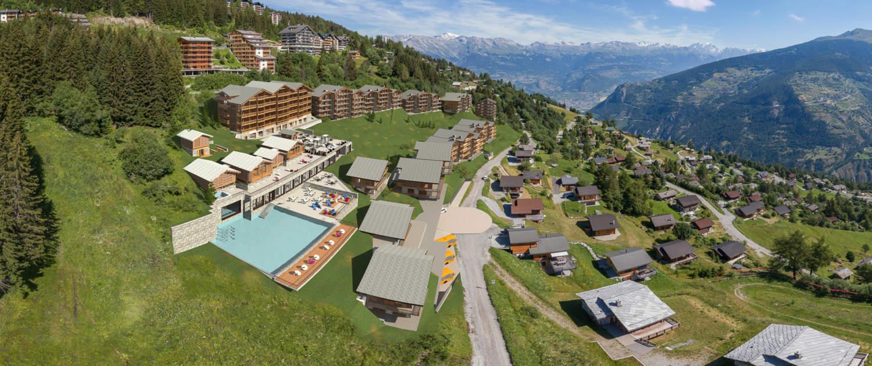 Maquette du projet Dixence Resort en Valais, Switzerland