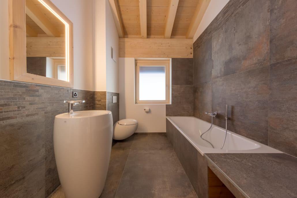 Salle de bain des chalets du complexe hôtelier Dixence Resort