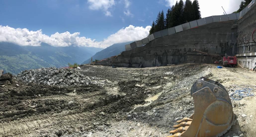 Chantier 2018 projet Dixence Resort en Valais